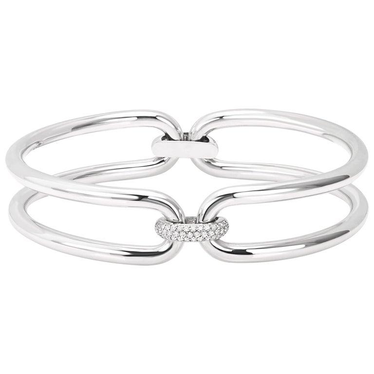 Roberta Collection Chocker 18 Karat White Gold and Diamonds