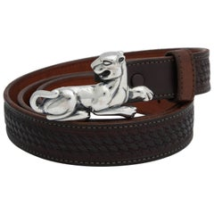 Sterling Silver Cougar Belt Buckle