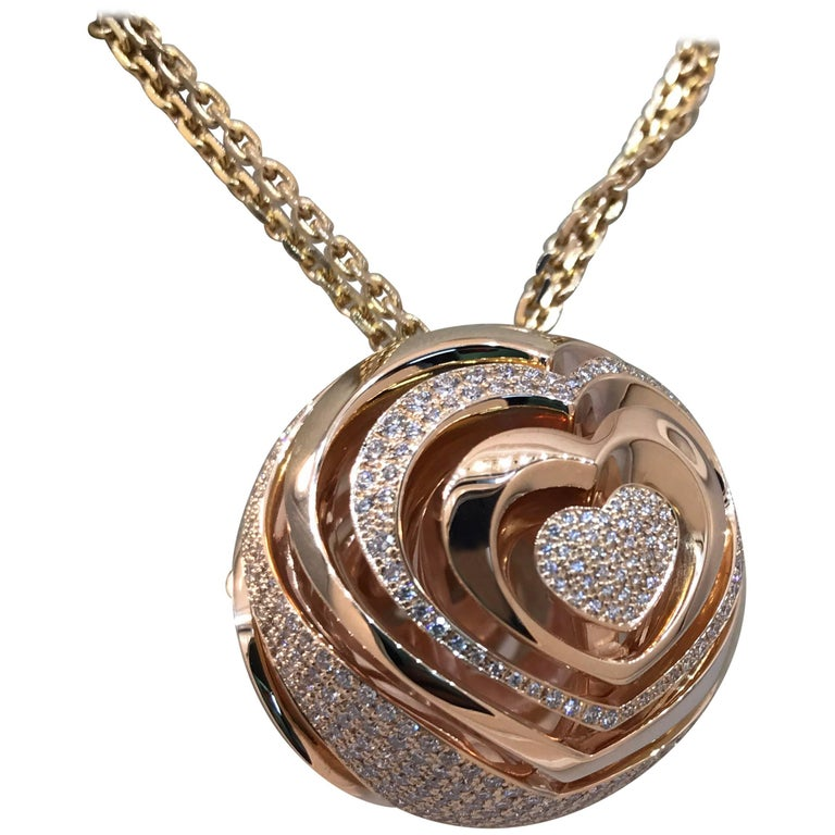 Chopard Xtravaganza Gold and Diamond Double Stranded Chain Pendant or Necklace