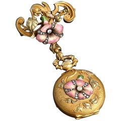 19th Century French Art Nouveau Watch Pendant
