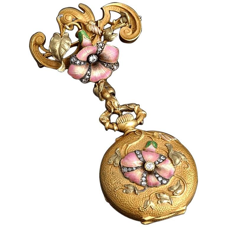 19th Century French Art Nouveau Watch Pendant