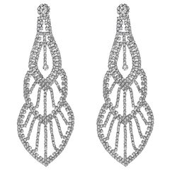 Emilio Jewelry 110.00 Carat Diamond Red Carpet Earrings