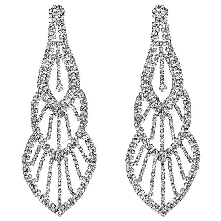 Emilio Jewelry 110.00 Carat Diamond Red Carpet Earrings For Sale