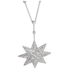 Tiffany & Co. Diamond Starburst Pendant in Platinum 6.95 Carat