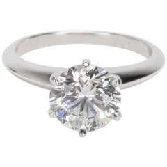 Tiffany & Co. Diamond Solitaire Engagement Ring in Platinum D VS1 2.02 Carat