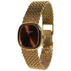 Patek Philippe Ladies Yellow Gold Dress Manual Wristwatch, circa 1980s