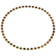 Tourmaline Diamond Gold Byzantine Necklace One of a Kind