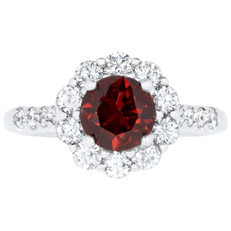 red solid celebrity halo rose ring certified diamond si itm gold ij oval kreeli katem engagement ruby