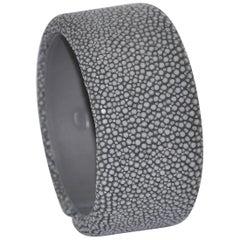 Grey Galuchat Cuff Bracelet