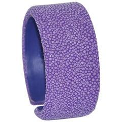 Violet Galuchat Cuff Bracelet