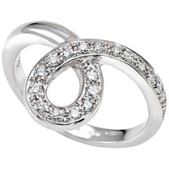 """Ring from the Collection """"Essence"""" 18 Karat White Gold and Diamonds"""