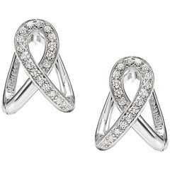 """Earrings from the Collection """"Essence"""" 18 Karat White Gold and Diamonds"""