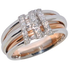 White Diamonds Rose Gold and White Gold Fashion Ring