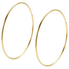 """Pair of Earrings from the Collection """"Essence"""" 18 Karat Yellow Gold"""