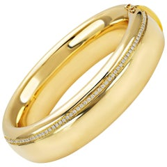 """Bangle from the Collection """"Essence"""" 18 Karat Yellow Gold and Diamonds"""