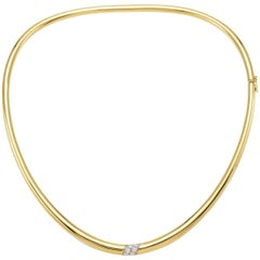 "Necklace from the Collection ""Essence"" 18 Karat Yellow Gold and Diamonds"