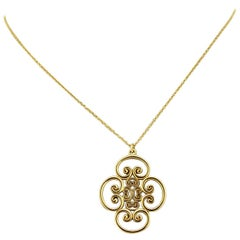 Tiffany & Co. 'Paloma Picasso', Ladies 18 Karat Gold Necklace with Pendant, 2012