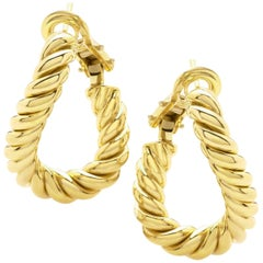 """Pair of Earrings from the Collection """"Rope"""" 18 Karat Yellow Gold"""