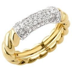 "Ring from the Collection ""Rope"" 18 Karat Yellow Gold and Diamonds"