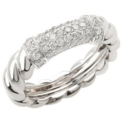 """Ring from the Collection """"Rope"""" 18 Karat White Gold and Diamonds"""