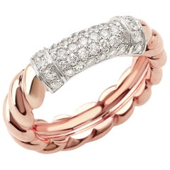 """Ring from the Collection """"Rope"""" 18 Karat Rose Gold and Diamonds"""