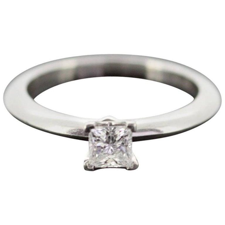Tiffany & Co, Platinum Ladies Ring with Diamond, London, 2011