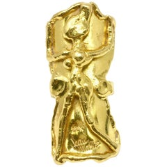 Jean Mahie 22 Karat Yellow Gold Sculpture Ring