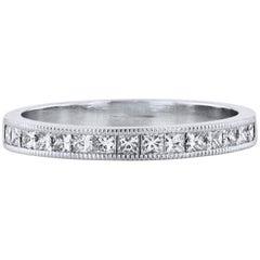 0.50 Carat Princess Cut Diamond Band Ring