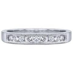 Estate 0.30 Carat Channel Set Diamond Band Platinum Ring