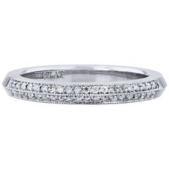 H&H 0.14 Carat Diamond Pave Platinum Wedding Band Ring