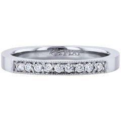 H&H 0.10 Carat Diamond Band Ring in Platinum