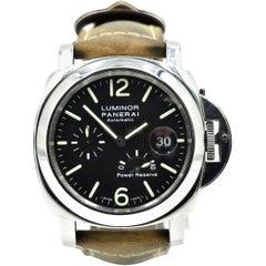 Panerai Stainless Steel Luminor Power Reserve Acciaio Automatic Wristwatch