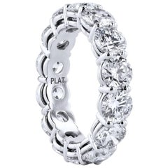 5.83 Carat Diamond Shared-Prong Eternity Band Ring