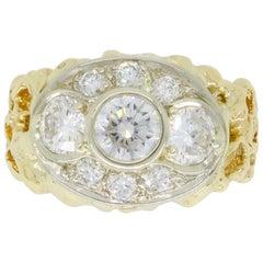 Custom Three-Stone Diamond Ring