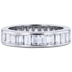 4.00 Carat Baguette Diamond Band Ring