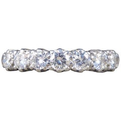 Vintage Multi Stone Diamond 18 Carat White Gold Ring