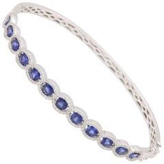 Sapphire and Diamond Bangle Bracelet