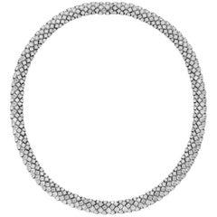Flirt Collection 18 Karat White Gold Necklace in White Diamonds