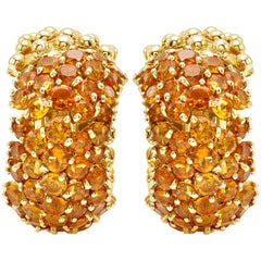 Flirt Collection 18 Karat Yellow Gold Pair of Earrings in Citrin