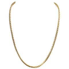 Spiga Yellow Gold Chain Necklace