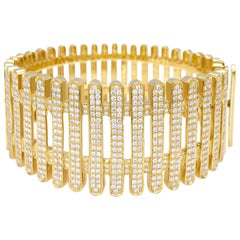 """Bangle from the Collection """"Moonlight"""" 18 Karat Yellow Gold and Diamonds"""