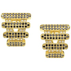 """Earrings Collection """"Moonlight"""" 18 Karat Yellow Gold and Diamonds"""