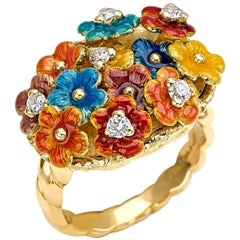 """Ring from the Collection """"Dreem"""" 18 Karat Yellow Gold and Diamonds"""