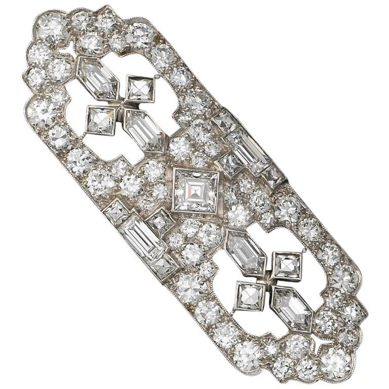 Art Deco Tiffany & Co. Diamond Platinum Brooch Pin Pendant