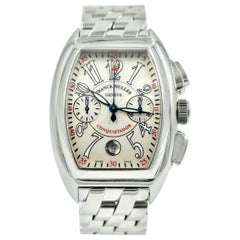 Franck Muller Stainless Steel Conquistador Chronograph automatic Wristwatch