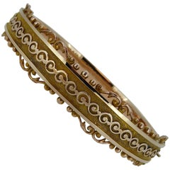 Antique Gold Hallmarked 1913 Bangle Bracelet