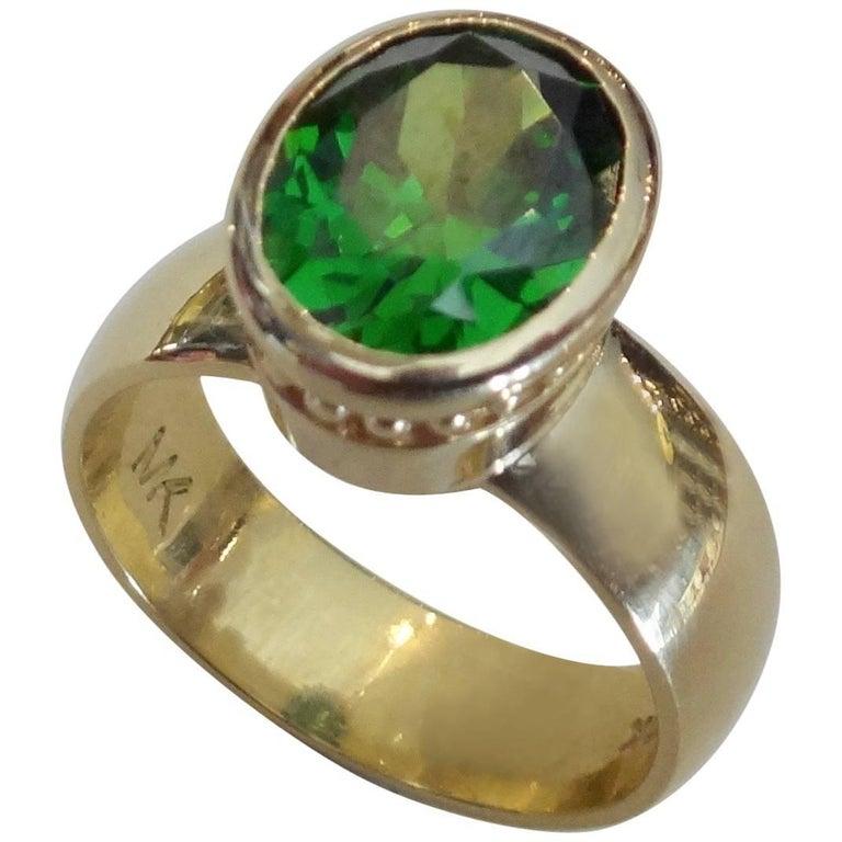 Michael Kneebone Green Tourmaline Leah Ring