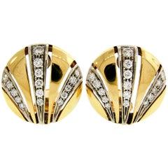 Van Cleef & Arpels Diamond Yellow Gold Earrings