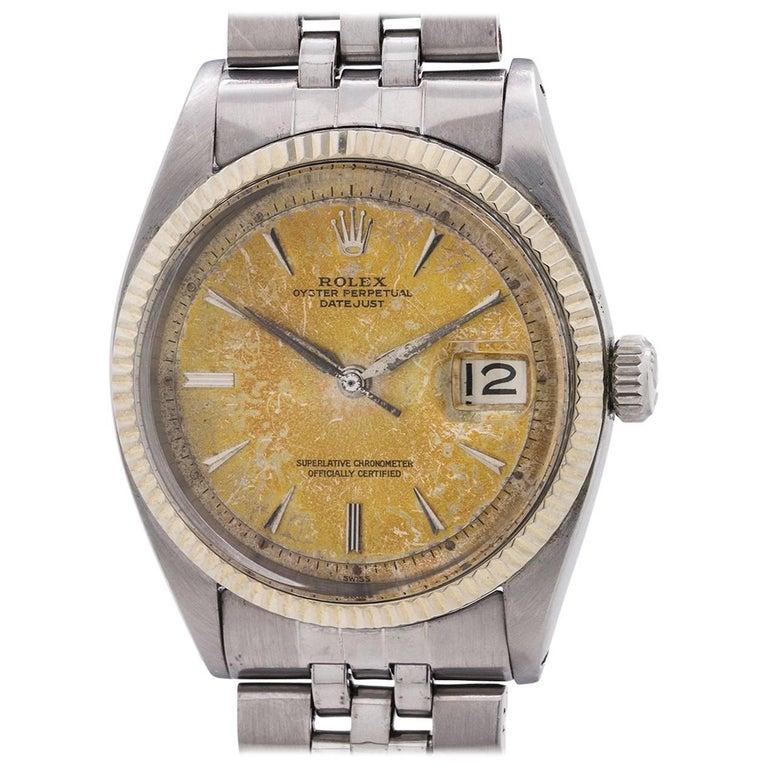 Rolex Stainless Steel Datejust Self Winding Wristwatch ref 1601, circa 1963