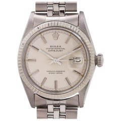Rolex White Gold Stainless Steel Datejust Self-Winding Wristwatch, circa 1968